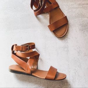 FRANCO SARTO • ankle wrap sandals